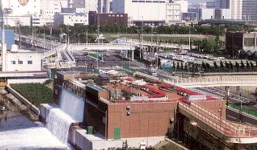平和島運河埋め立て工事